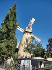 The famous Jerusalem windmill built in 1858 in the neighborhood of Mishkenot Sha'ananim
